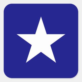 Étoile blanche mignonne de drapeau bleu stickers carrés