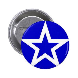 Étoile blanche sur le bleu - bouton pin's