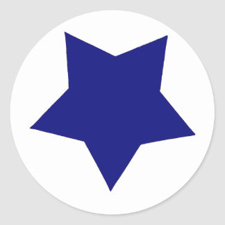 Étoile bleue sticker rond