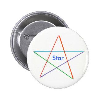 Étoile - cinq ont coloré des boutons de récompense badges
