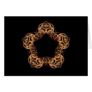 Étoile de baguette magique du feu - carte