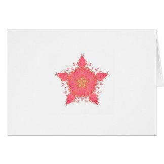 Étoile de corail cartes de vœux