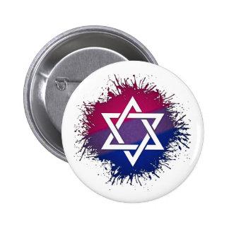 Étoile de David bisexuelle de fierté Badges
