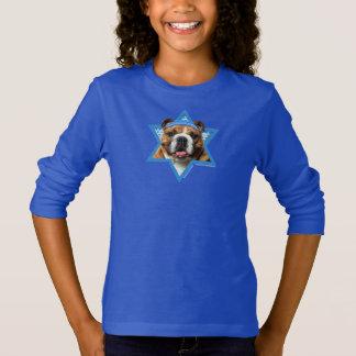 Étoile de David de Hanoukka - bouledogue T-shirt