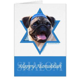 Étoile de David de Hanoukka - carlin Cartes De Vœux