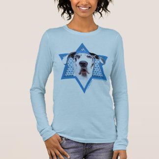 Étoile de David de Hanoukka - great dane - T-shirt À Manches Longues