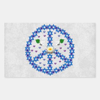 Étoile de David de paix Sticker Rectangulaire