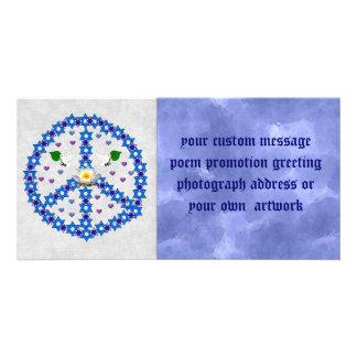 Étoile de David de paix Cartes De Vœux Avec Photo