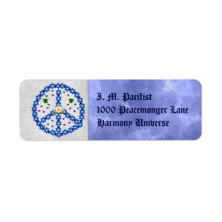 Étoile de David de paix Étiquette D'adresse Retour