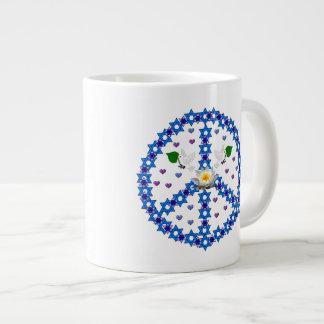 Étoile de David de paix Mug Jumbo