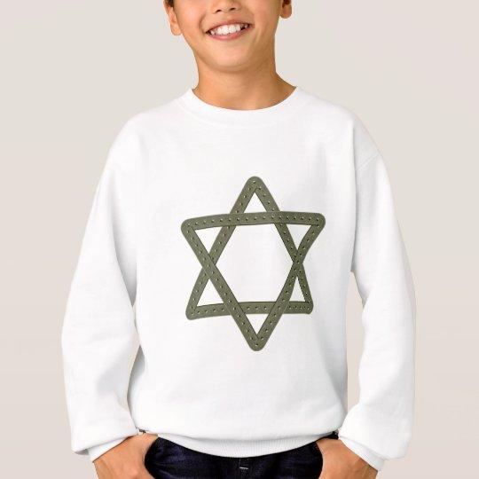 Étoile de David de rivet pour des célébrations Sweatshirt