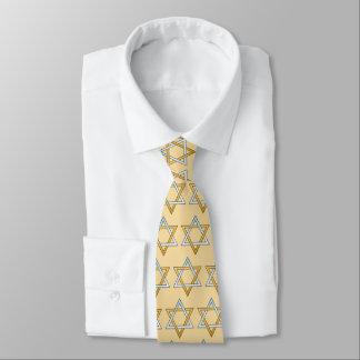 Étoile de David de ton d'argent et de l'or deux Cravates