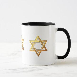 """étoile de David d'or """"à trois dimensions"""" Mug"""