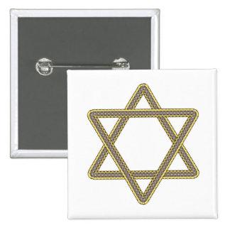 Étoile de David d'or et d'argent pour le bat mitzv Pin's Avec Agrafe