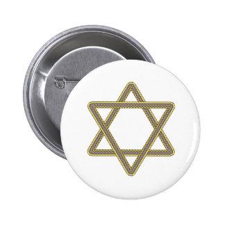Étoile de David d'or et d'argent pour le bat mitzv Badges Avec Agrafe