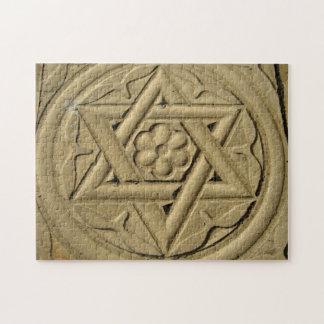 Étoile de David gravée dans la pierre - judaïsme Puzzle