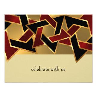 Étoile de David métallique RSVP de regard de Mitzv Invitation