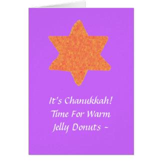 Étoile de David orange, carte de Chanukkah
