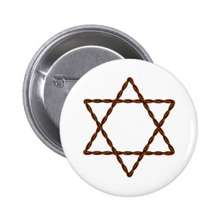 Étoile de David tordue de fil Badge