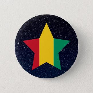 Étoile de drapeau de Guinée dans l'espace Badge