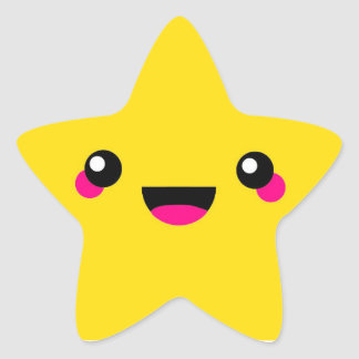 Étoile de Kawaii Sticker Étoile