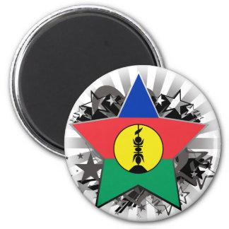 Étoile de la Nouvelle-Calédonie Magnet Rond 8 Cm