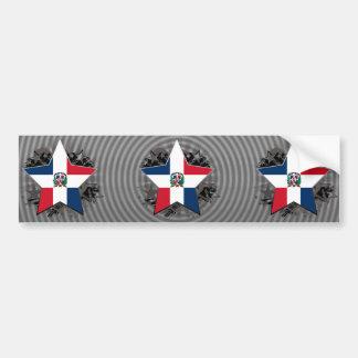 Étoile de la République Dominicaine Autocollant De Voiture