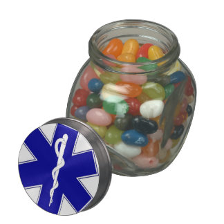 Étoile de la vie - étain pots en verre pour bonbons