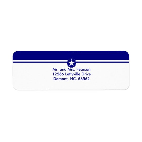 Étoile de l'Armée de l'Air Étiquette D'adresse Retour
