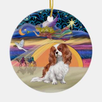 Étoile de Noël - le Roi cavalier Charles de Ornement Rond En Céramique