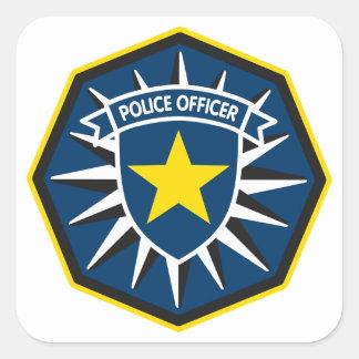 Étoile de policier sticker carré