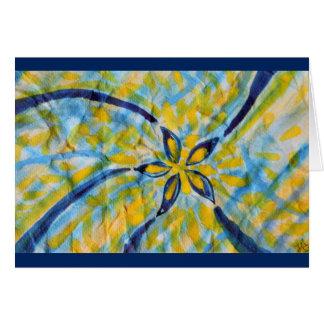 Étoile de rotation/fleur d'aquarelle abstraite carte de vœux
