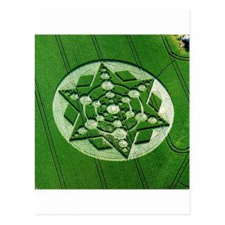 Étoile de rotation WILTSHIRE de cercle de culture Carte Postale