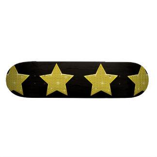 Étoile de scintillement d'or planches à roulettes