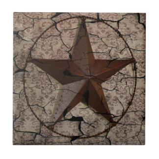 Étoile de Texas primitive rustique de pays Petit Carreau Carré