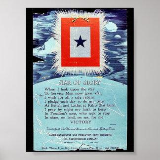 Étoile de victoire de gloire posters