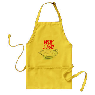 ÉTOILE de WOK de wok de tablier asiatique de cuisi