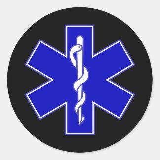 Étoile d'EMT d'autocollant de la vie Sticker Rond