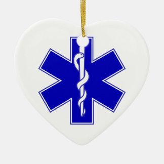 Étoile d'EMT de la vie Ornement Cœur En Céramique