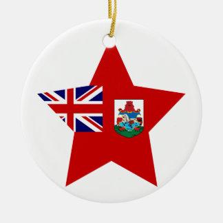 Étoile des Bermudes Ornement Rond En Céramique