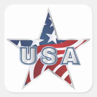 Étoile des Etats-Unis Sticker Carré