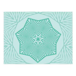 Étoile dirigée par sept cartes postales