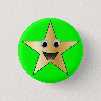 Étoile d'or avec le visage de sourire badge