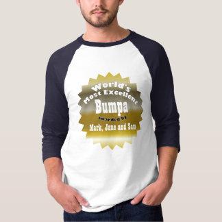 ÉTOILE D'OR. Bumpa le plus excellent du monde T-shirt