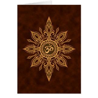 Étoile d'or de Brown Aum Carte De Vœux