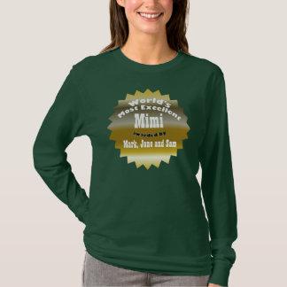 ÉTOILE D'OR. Mimi le plus excellent du monde T-shirt