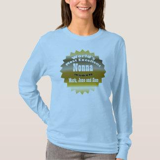 ÉTOILE D'OR. Nonna le plus excellent du monde T-shirt