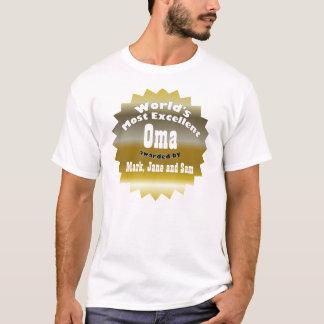 ÉTOILE D'OR. Oma le plus excellent du monde T-shirt