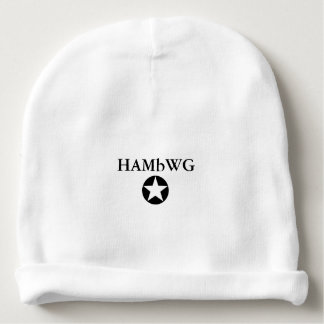 Étoile du logo W de noir de calotte de coton de Bonnet De Bébé