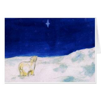 'Étoile du nord chez le Pole du sud Cartes De Vœux